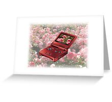 Rose Gameboy Greeting Card