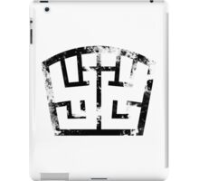 SOLDIER black grunge iPad Case/Skin