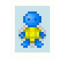 Pixel Squirtle Art Print