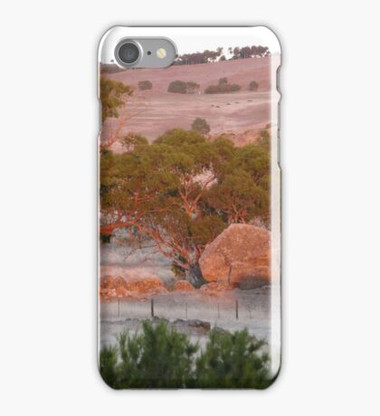 Bushfire Glow, over the paddock just after 6.55pm. 'Arilka'.  iPhone Case/Skin