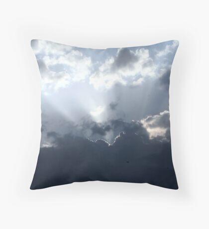 Blue Rays Throw Pillow
