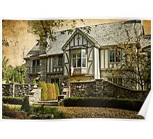 Mock Tudor Style Home Poster