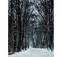 Snowy Road to Grandma's Photographic Print
