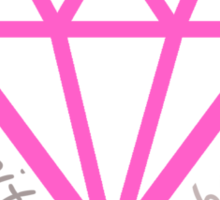 Diamond Life: Clarity ∞ Balance (clean and simple) Sticker