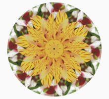 K137 Yellow Flower Kaleidoscope Kids Clothes