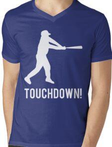 Baseball Touchdown Mens V-Neck T-Shirt