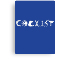 Coexist- Game of Thrones shirt Canvas Print
