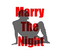 Marry the Night Silhouette Photographic Print