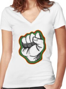 Right On Women's Fitted V-Neck T-Shirt