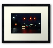 City Lights In The Mourning Framed Print