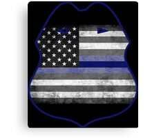 Thin Blue Line - Shield Canvas Print