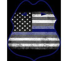 Thin Blue Line - Shield Photographic Print