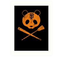 Panda Skull- SF Giants Art Print