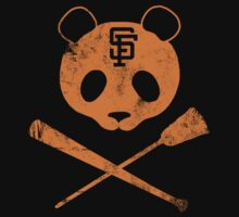 Panda Skull- SF Giants by spacemonkeydr