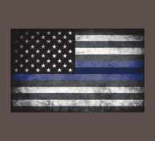 The Thin Blue Line - American Police Officer One Piece - Short Sleeve