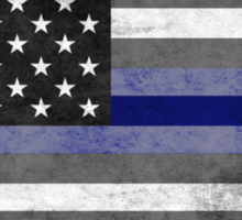 The Thin Blue Line - American Police Officer Sticker