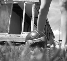 my legs... and my best friend (my soccer ball) by Jessica Leavitt