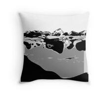Black and White abstract art Throw Pillow