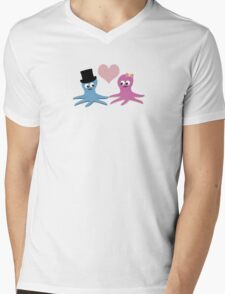 Cute Octopus Couple Mens V-Neck T-Shirt