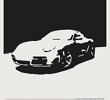Porsche Cayman S - Black on White by uncannydrive