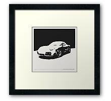 Porsche Cayman S - Black on White Framed Print