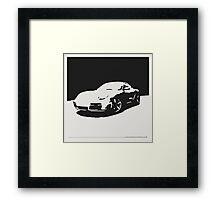 Porsche Cayman S - Black on White Framed Print