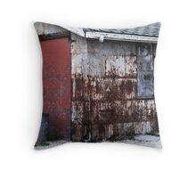 old garage  Throw Pillow