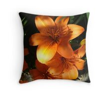 Sunny Orange Throw Pillow