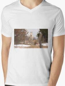 White as Snow Mens V-Neck T-Shirt