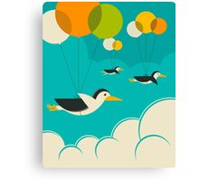 FLOCK OF PENGUINS Canvas Print