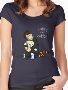 Harry and Dobbs- Harry Potter  Women's Fitted Scoop T-Shirt