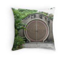 Chinese door Throw Pillow