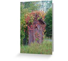 autumn shack Greeting Card