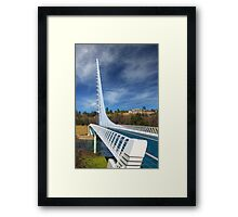 The Redding Sundial Bridge Framed Print