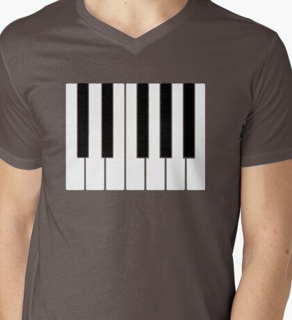 PIANO Mens V-Neck T-Shirt
