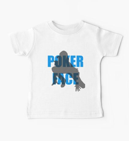Poker Face Silhouette Baby Tee