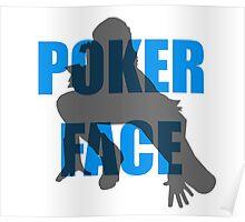 Poker Face Silhouette Poster