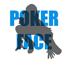 Poker Face Silhouette Photographic Print