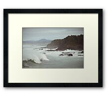 Crashing Waves Framed Print