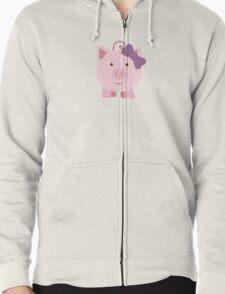 Cute Girl Pig Zipped Hoodie