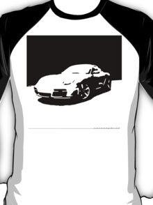 Porsche Cayman S - Black on White T-Shirt