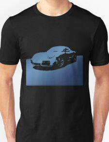 Porsche Cayman S - Blue on Black Unisex T-Shirt