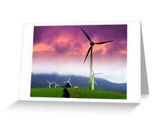 Wind Farm Squall Greeting Card