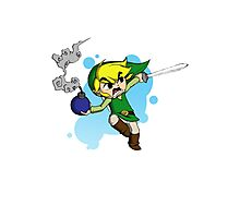 Link in Battle! Photographic Print