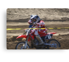 Honda Red Rider Putting on the Heat! So. Calif., U.S.A. Canvas Print