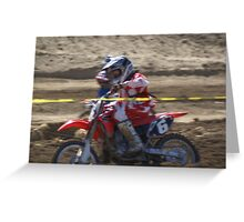 Honda Red Rider Putting on the Heat! So. Calif., U.S.A. Greeting Card