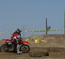 Motocross -Nice turn; So. Calif., U.S.A. by leih2008