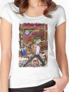 Somewhere in Time and Space Women's Fitted Scoop T-Shirt