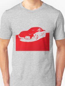 Porsche Cayman S - Guards Red on Black Unisex T-Shirt