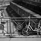 Bike on Bridge by Shelly Wickens